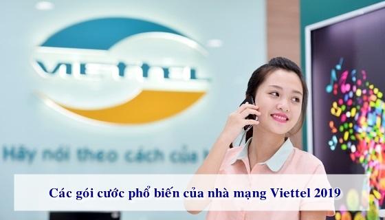 Các gói cước Viettel trả trước thông dụng nhất trong năm 2019