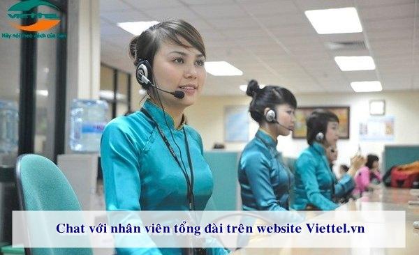 Hướng dẫn chat với nhân viên tổng đài trên website Viettel.vn